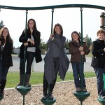 Ladies Just swinging on the playground!