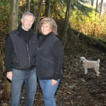 Bob, Barb and Miss Bailey in Deep Cove Park